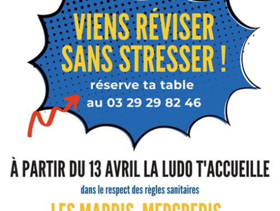 ATELIER VIENS RÉVISER SANS STRESSER - LUDOTHÈQUE