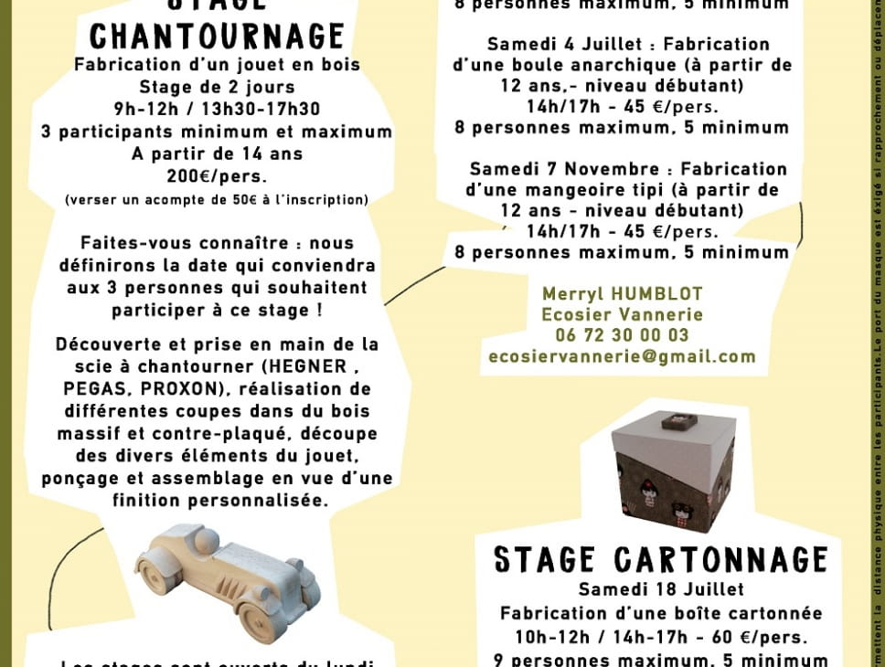 STAGES D'ARTISANAT D'ART