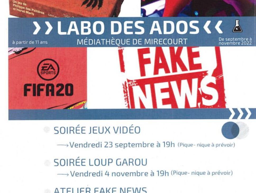 LABO DES ADOS - SOIRÉE VIP GAMES