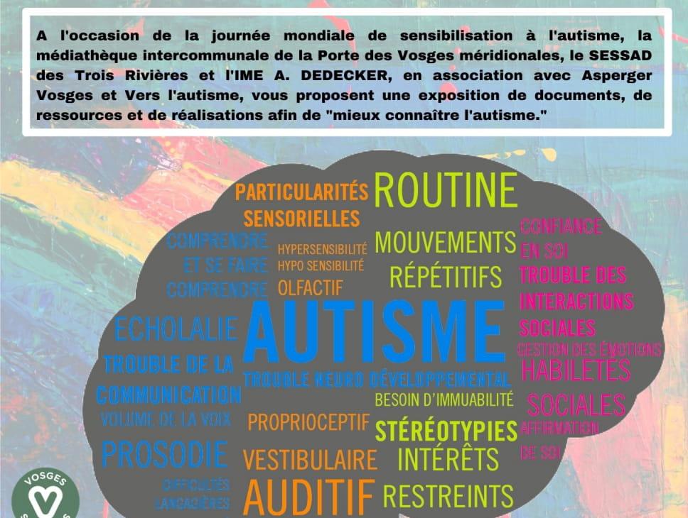 EXPOSITION DE DOCUMENTS POUR MIEUX CONNAÎTRE L'AUTISME