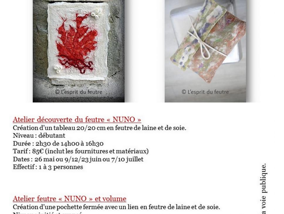 STAGE DE DECOUVERTE NUNO -ATELIER DU FEUTRE