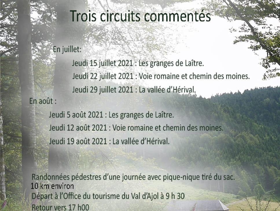 TROIS CIRCUITS COMMENTÉS