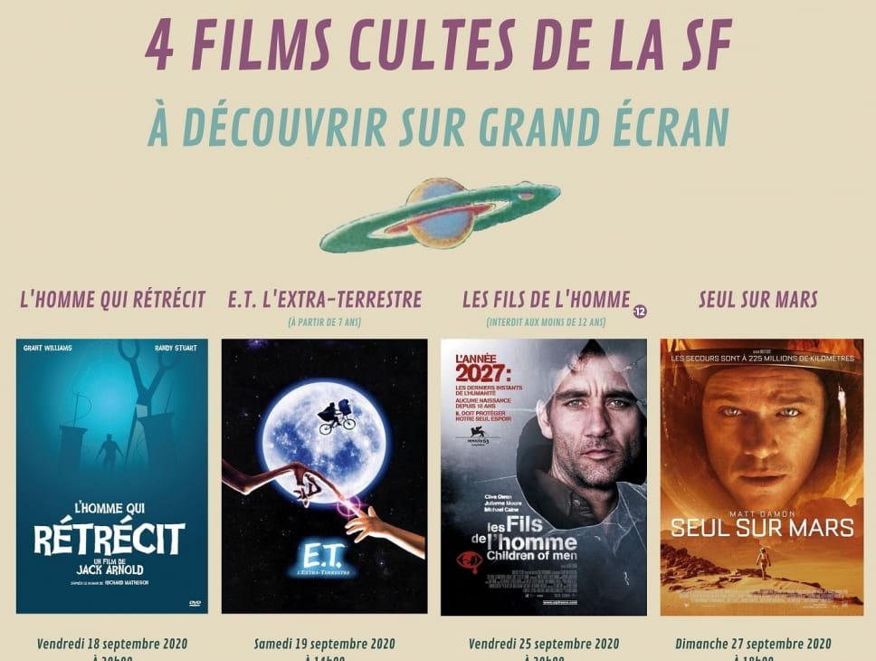 PROJECTIONS EXCEPTIONNELLES DE 4 FILMS CULTES DE LA SF