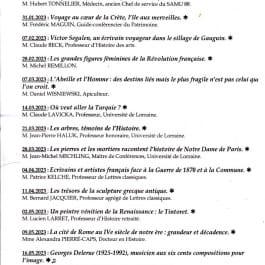 CONFÉRENCE UNIVERSITÉ DE LA CULTURE PERMANENTE - PROGRAMME 2021 2022