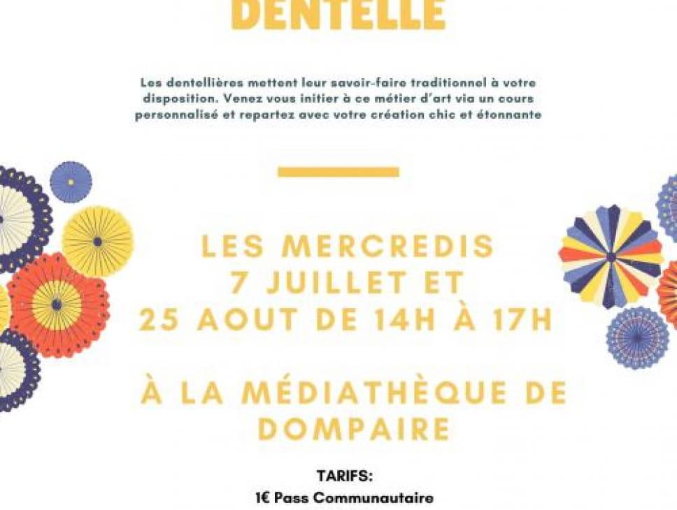 INITIATION À LA DENTELLE AUX FUSEAUX - DOMPAIRE