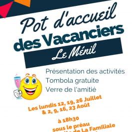 POT D'ACCUEIL DES VACANCIERS AU MÉNIL