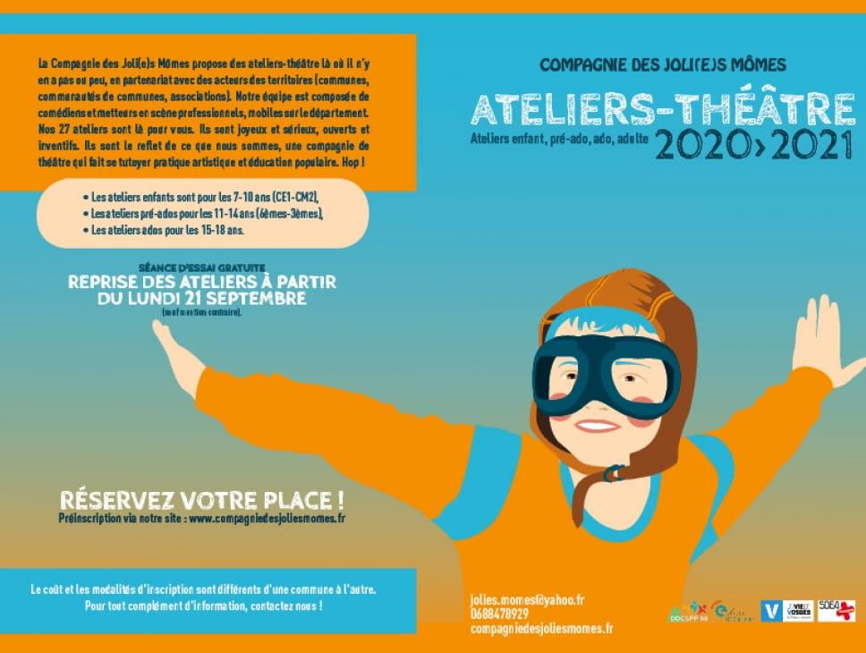 REPRISE DES ATELIERS-THÉÂTRE 2020 / 2021