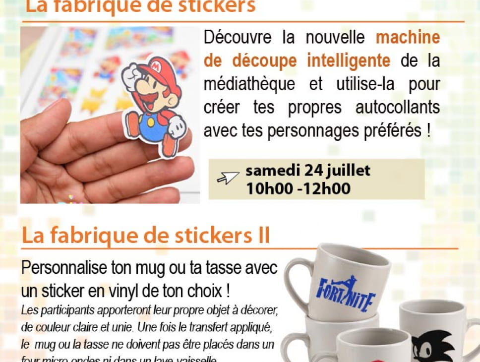 CYBERKIDS - LA FABRIQUE DES STICKERS