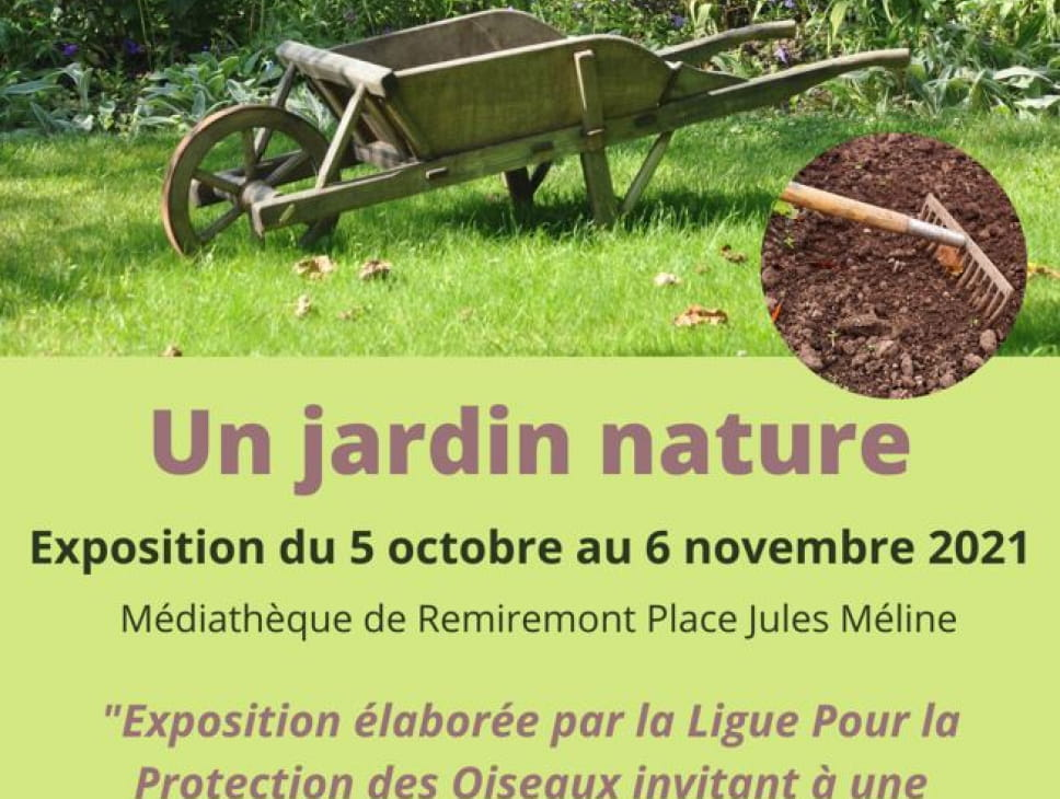 EXPOSITION : 'UN JARDIN NATURE'